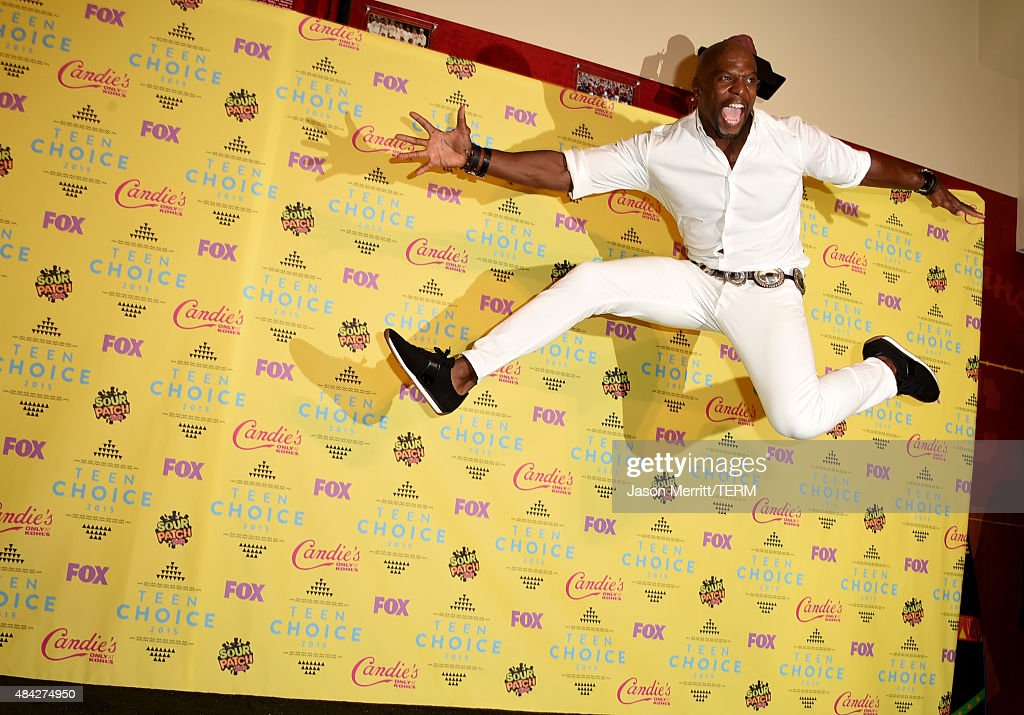 Actor Terry Crews poses in the press room during the Teen Choice Awards 2015 at the USC Galen Center on August 16, 2015 in Los Angeles, California.