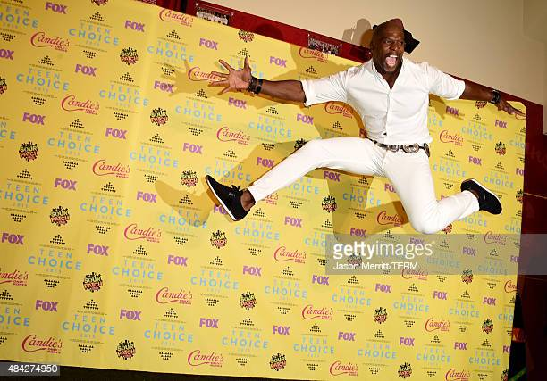Actor Terry Crews poses in the press room during the Teen Choice Awards 2015 at the USC Galen Center on August 16 2015 in Los Angeles California