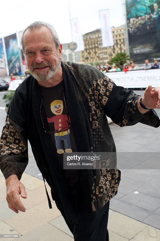 Actor Terry Gilliam arrives at the Maria Cristina Hotel during the 61th San Sebastian International Film Festival on September 20 2013 in San...