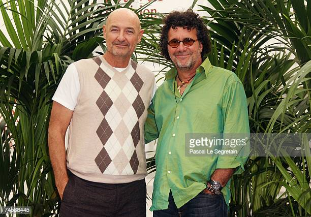 Actor Terry O'Quinn and executive producer Jack Bender attend a photocall promoting the television serie 'Lost' on the second day of the 2007 Monte...