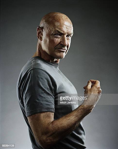Actor Terry O'Quinn poses for a portrait shoot as John Locke in the US tv series 'Lost' on September 3 2008