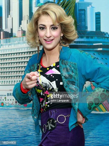 Actor Tessa Alves Sargent of Rock of Ages attend the Norwegian Warming Station launch in Times Square on January 28 2013 in New York City