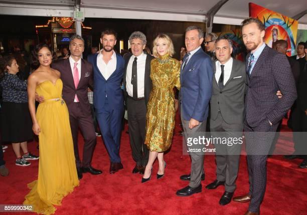 Actor Tessa Thompson Director Taika Waititi Actor Chris Hemsworth Chairman The Walt Disney Studios Alan Horn Actor Cate Blanchett The Walt Disney...