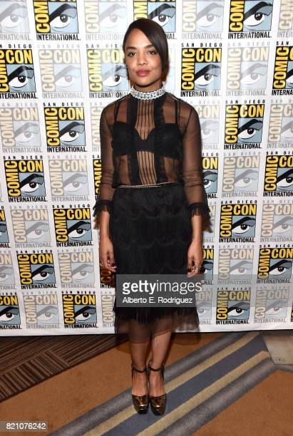 Actor Tessa Thompson from Marvel Studios' 'Thor Ragnarok' at the San Diego ComicCon International 2017 Marvel Studios Panel in Hall H on July 22 2017...