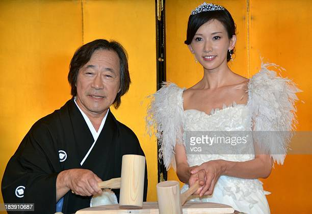 Actor Tetsuya Tetsuya and actress Chiling Lin attend 'Say Yes' press conference at Nikko hotel on October 9 2013 in Tokyo Japan