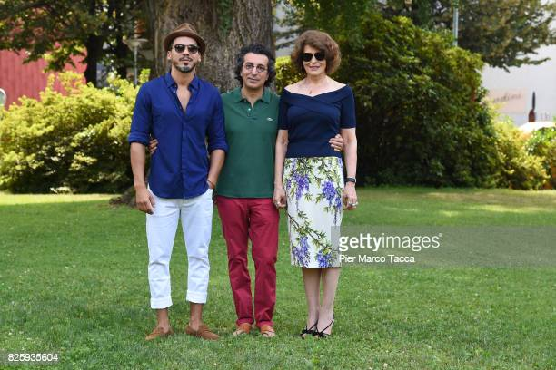 Actor Tewfik Jallab Actress Fanny Ardant and Director Nadir Mokneche attend a photocall during the 70th Locarno Film Festival on August 3 2017 in...