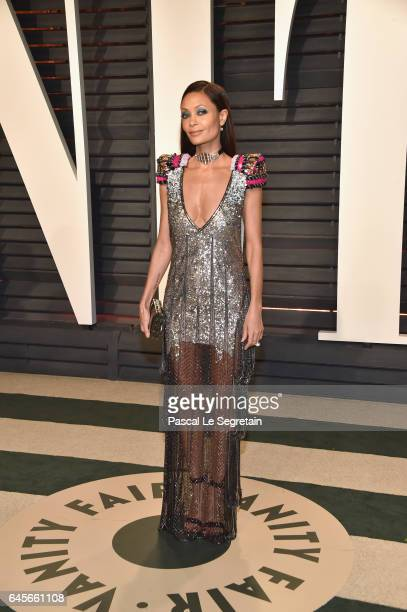 Actor Thandie Newton attends the 2017 Vanity Fair Oscar Party hosted by Graydon Carter at Wallis Annenberg Center for the Performing Arts on February...