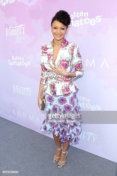 Actor Thandie Newton attends Variety's Celebratory Brunch Event For Awards Nominees benefitting Motion Picture Television Fund at Cecconi's on...