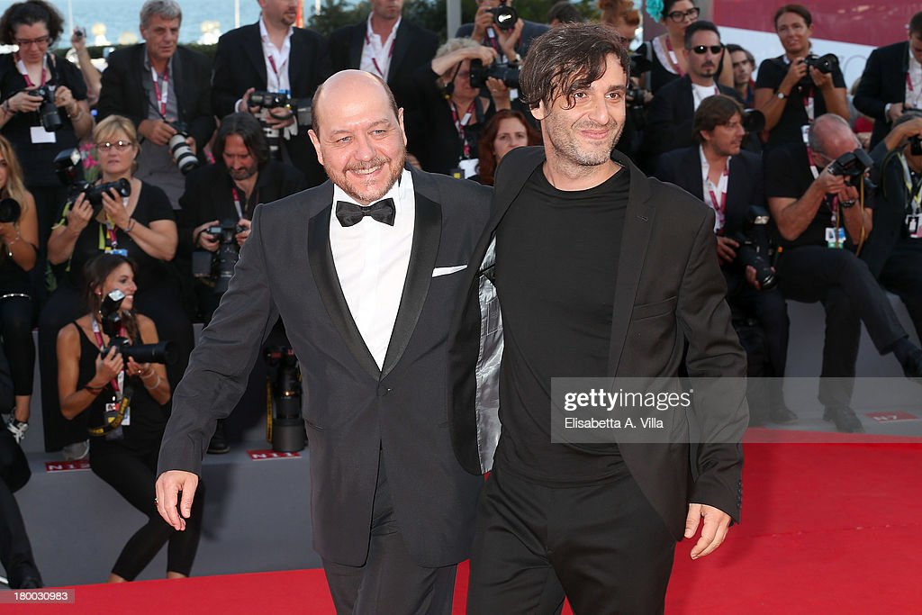 Actor Themis Panou and director Alexandros Avranas arrive at the closing ceremony of the 70th Venice International Film Festival at Palazzo del Cinema on September 7, 2013 in Venice, Italy.