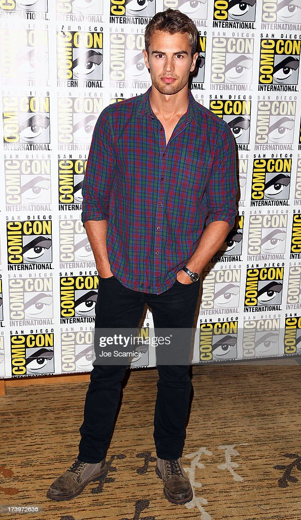 Actor Theo James attends 'Divergent' Comic-Con Press Line at San Diego Convention Center on July 18, 2013 in San Diego, California.