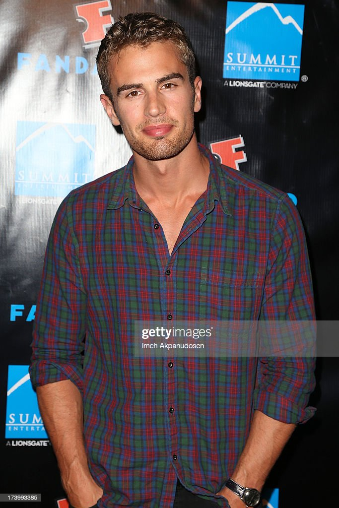 Actor Theo James attends Summit Entertainment's Comic-Con Red Carpet Press Event at Hard Rock Hotel San Diego on July 18, 2013 in San Diego, California.