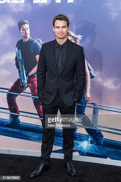 Actor Theo James attends the 'Allegiant' New York Premiere at AMC Loews Lincoln Square 13 theater on March 14 2016 in New York City