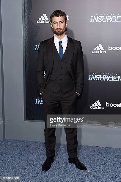 Actor Theo James attends 'The Divergent Series Insurgent' New York premiere at Ziegfeld Theater on March 16 2015 in New York City