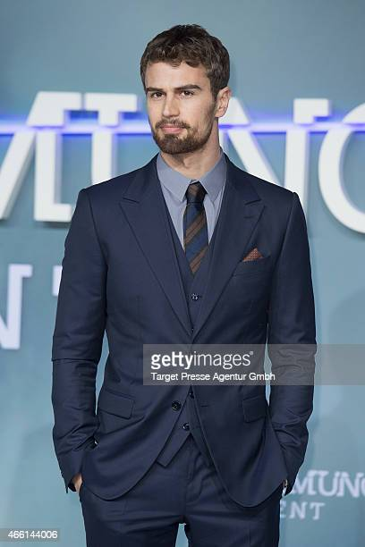 Actor Theo James attends the German Premiere of 'Die Bestimmung Insurgent' at CineStar on March 13 2015 in Berlin Germany
