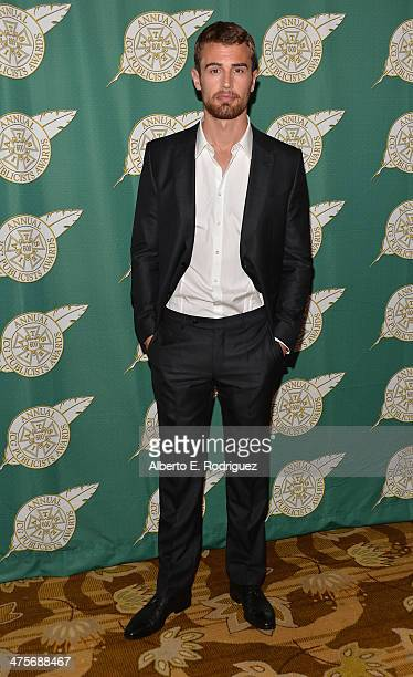 Actor Theo James attends the International Cinematographers Guild Presents The 51st Annual Publicists Awards Luncheon at Regent Beverly Wilshire...