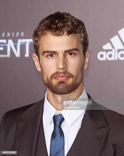 Actor Theo James attends the 'The Divergent Series Insurgent' New York premiere at Ziegfeld Theater on March 16 2015 in New York City