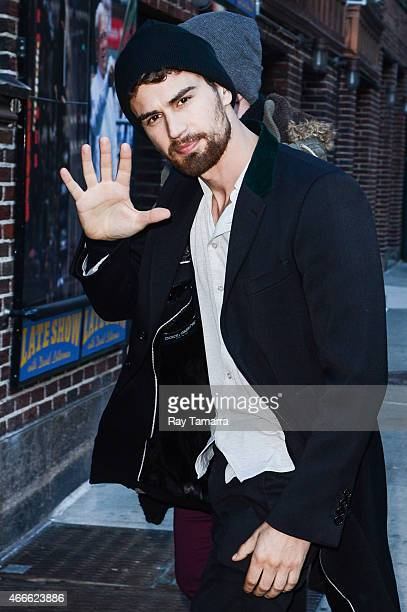Actor Theo James enters the 'Late Show With David Letterman' taping at the Ed Sullivan Theater on March 17 2015 in New York City