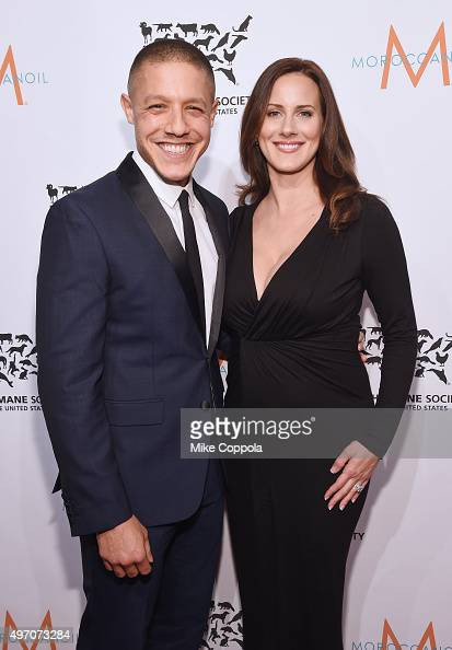 Actor Theo Rossi and wife Meghan McDermott pose for a picture during the 2015 To The Rescue New York Gala at Cipriani 42nd Street on November 13 2015...