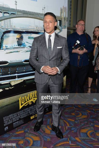Actor Theo Rossi attends the Los Angeles special screening of BH Tilt and Imagine's 'Lowriders' at LA LIVE on May 9 2017 in Los Angeles California