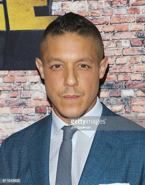 Actor Theo Rossi attends the 'Luke Cage' New York premiere at AMC Magic Johnson Harlem on September 28 2016 in New York City