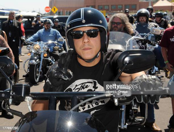 Actor Theo Rossi participates in the 3rd Annual Boot Ride And Rally held at The USS Iowa on August 25 2013 in San Pedro California