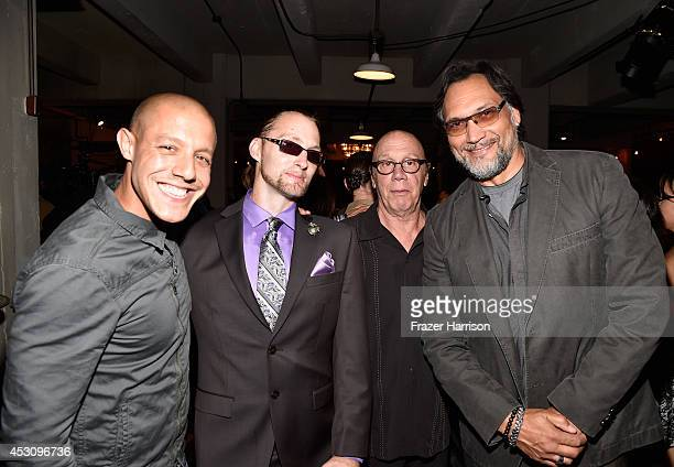 Actor Theo Rossi veteran Benjamin Wilken actors Dayton Callie and Jimmy Smits attend Cast of FX's 'Sons of Anarchy' Host 'Boot Bash' benefiting The...