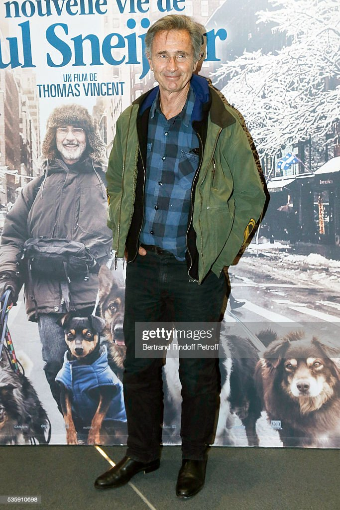 Actor <a gi-track='captionPersonalityLinkClicked' href=/galleries/search?phrase=Thierry+Lhermitte&family=editorial&specificpeople=768146 ng-click='$event.stopPropagation()'>Thierry Lhermitte</a> attends the 'La Nouvelle Vie De Paul Sneijder' Premiere at UGC Cine Cite des Halles on May 30, 2016 in Paris, France.