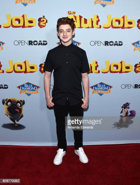 Actor Thomas Barbusca arrives at the premiere of Open Road Films' 'The Nut Job 2 Nutty By Nature' at the Regal Cinemas LA Live on August 5 2017 in...