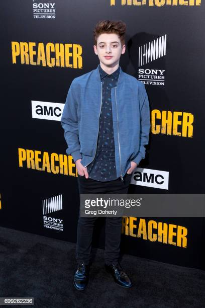 Actor Thomas Barbusca arrives for the Premiere Of AMC's 'Preacher' Season 2 at The Theatre at Ace Hotel on June 20 2017 in Los Angeles California