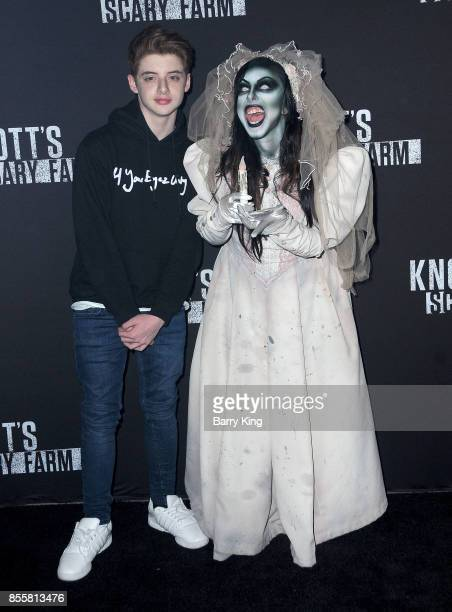Actor Thomas Barbusca attends Knott's Scary Farm and Instagram Celebrity Night at Knott's Berry Farm on September 29 2017 in Buena Park California