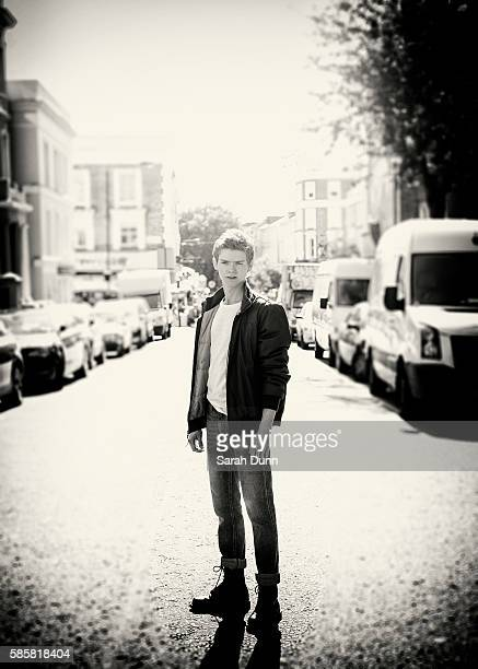 Actor Thomas Brodie Sangster is photographed for Seventh Man magazine on July 19 2014 in London England