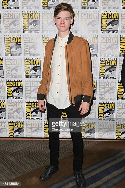 Actor Thomas BrodieSangster arrives at the 'Maze Runner' press room on July 11 2015 in San Diego California