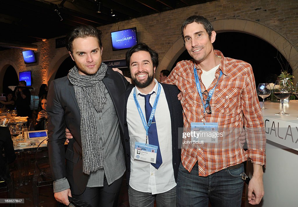 Actor Thomas Dekker, producer Jeremy Platt and director Victor Teran attend the 'Snap' cast dinner with Nikki Reed hosted by The Samsung Galaxy Experience at SXSW 2013 on March 11, 2013 in Austin, Texas.