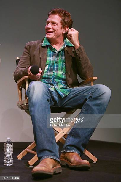 Actor Thomas Haden Church attends Apple Store Soho Presents 'Whitewash' at the Apple Store Soho during the 2013 Tribeca Film Festival on April 20...