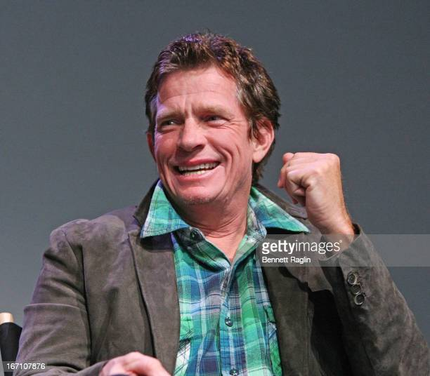 Actor Thomas Haden Church attends Meet the Filmmaker 'Whitewash' during the 2013 Tribeca Film Festival at the Apple Store Soho on April 20 2013 in...