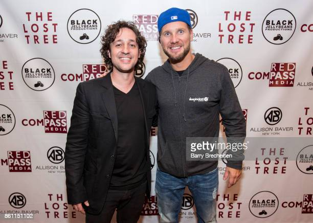Actor Thomas Ian Nicholas and DJ Steve Smooth during the 'The Lost Tree' Chicago Premiere at Music Box Theatre on October 13 2017 in Chicago Illinois