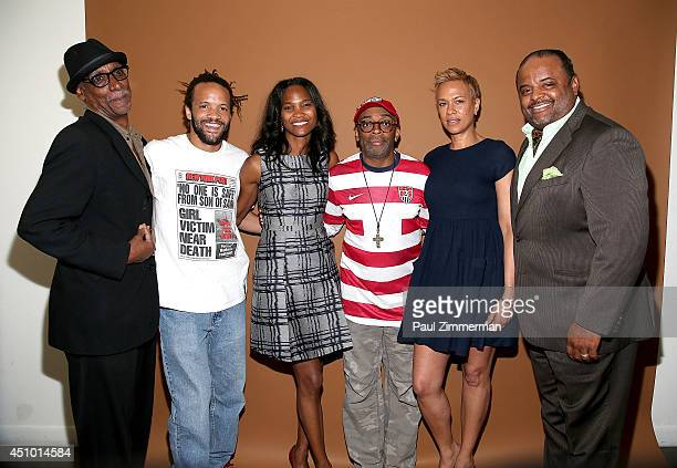 Actor Thomas Jefferson Byrd dancer Savion Glover founder of the Black Film Festival Nicole Friday director Spike Lee Tonya Lewis Lee and journalist...