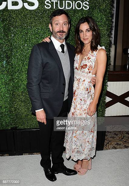 Actor Thomas Lennon and actress Lindsay Sloane attend the 4th annual CBS Television Studios Summer Soiree at Palihouse on June 2 2016 in West...