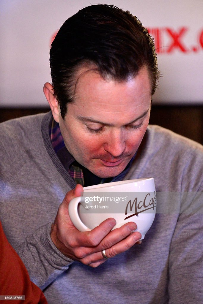 Actor <a gi-track='captionPersonalityLinkClicked' href=/galleries/search?phrase=Thomas+Lennon&family=editorial&specificpeople=559662 ng-click='$event.stopPropagation()'>Thomas Lennon</a> warms up at the McDonald's McCafe at Sundance on January 21, 2013 in Park City, Utah.