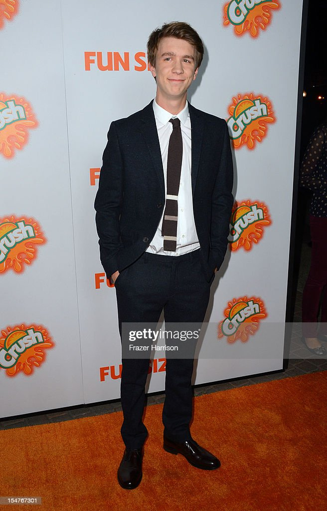 Actor Thomas Mann arrives at the Premiere of Paramount Pictures' 'Fun Size' at Paramount Theater on the Paramount Studios lot on October 25, 2012 in Hollywood, California.