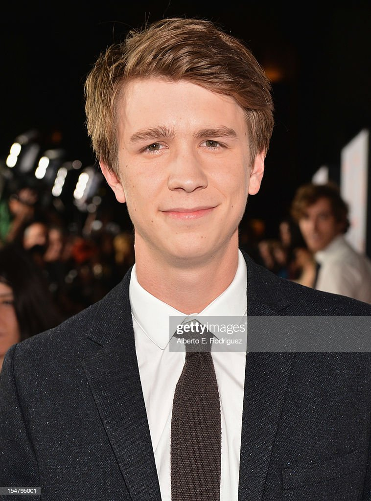 Actor Thomas Mann arrives to the premiere of Paramount Pictures' 'Fun Size' at Paramount Theater on the Paramount Studios lot on October 25, 2012 in Hollywood, California.