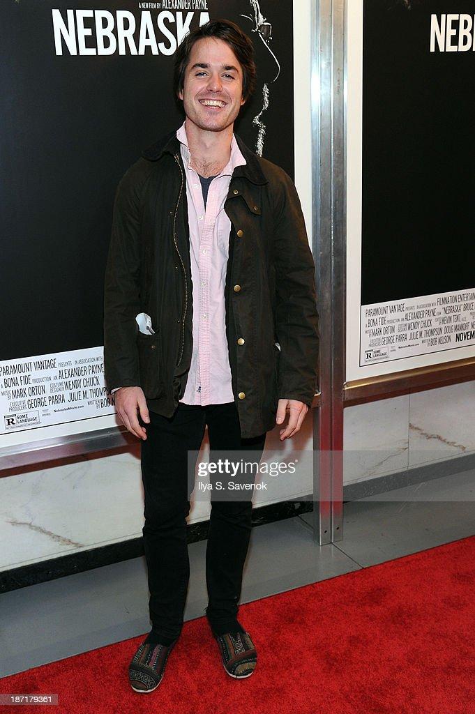 Actor Thomas Matthews attends the 'Nebraska' special screening at Paris Theater on November 6, 2013 in New York City.