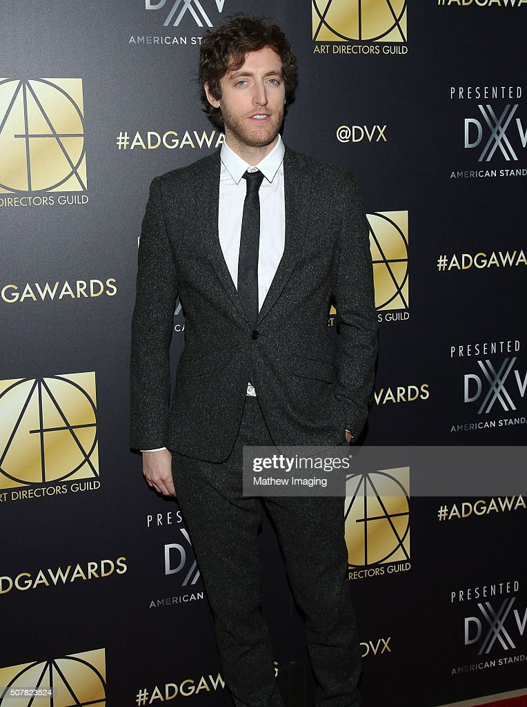 Actor Thomas Middleditch arrives at the 20th Annual Art Directors Guild Excellence In Production Design Awards at The Beverly Hilton Hotel on January...