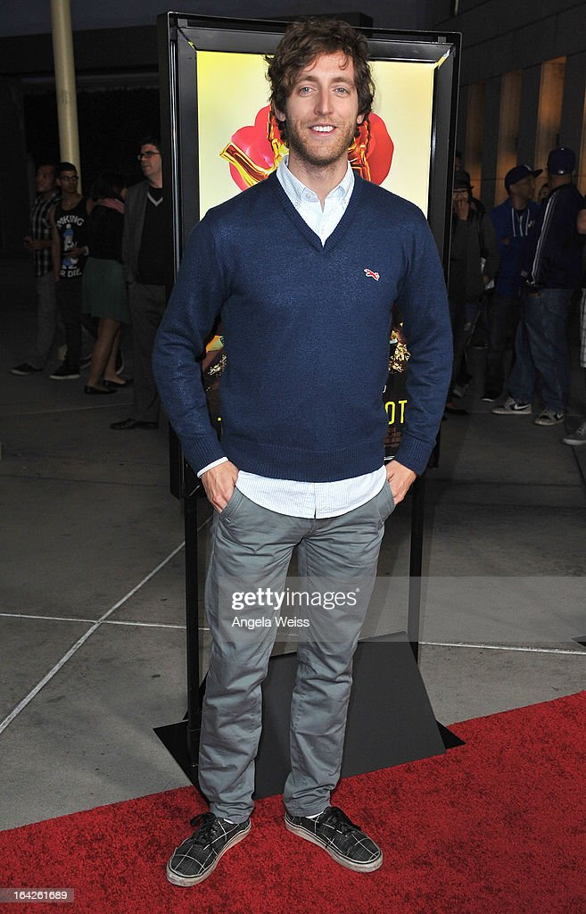 Actor Thomas Middleditch arrives to the LA screening of Magnolia Pictures' 'The Brass Teapot' at ArcLight Hollywood on March 21, 2013 in Hollywood, California.