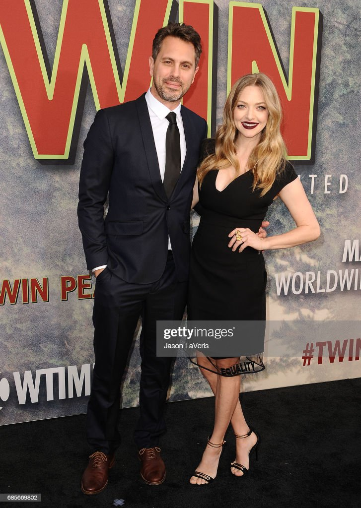 Actor Thomas Sadoski and actress Amanda Seyfried attend the premiere of 'Twin Peaks' at Ace Hotel on May 19, 2017 in Los Angeles, California.