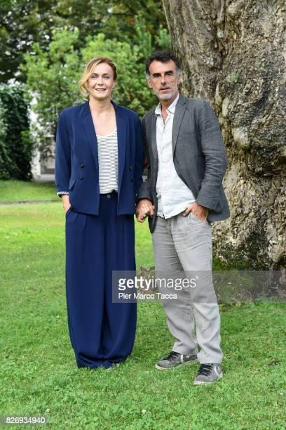 Actor Thomas Trabacchi and Actress Lucia Mascino attend 'Amori che non sanno stare al mondo' photocall during the 70th Locarno Film Festival on...