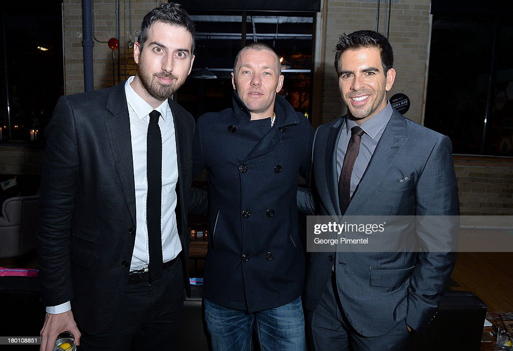 Actor Ti West, Actor/Writer/Director Joel Edgerton and filmmaker Eli Roth attend the SodaStream presents The Worldview Party at Live at the Hive during the 2013 Toronto International Film Festival on September 8, 2013 in Toronto, Canada.