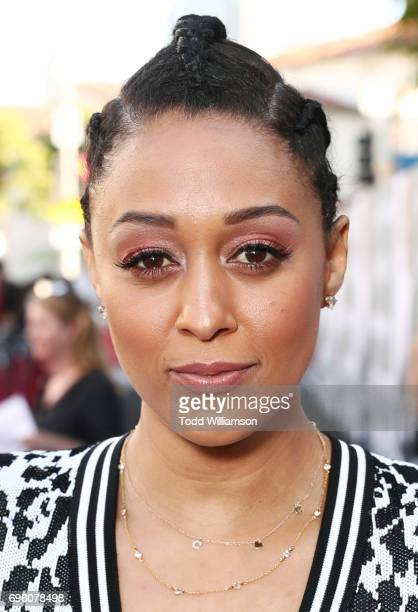 Actor Tia Mowry at the 'ALL EYEZ ON ME' Premiere at Westwood Village Theatre on June 14 2017 in Westwood California