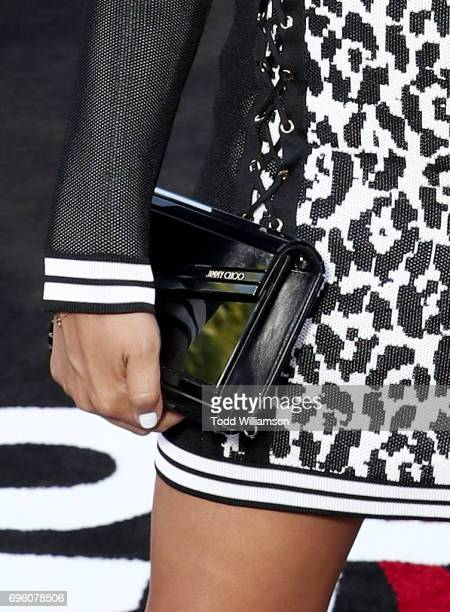Actor Tia Mowry purse detail at the 'ALL EYEZ ON ME' Premiere at Westwood Village Theatre on June 14 2017 in Westwood California