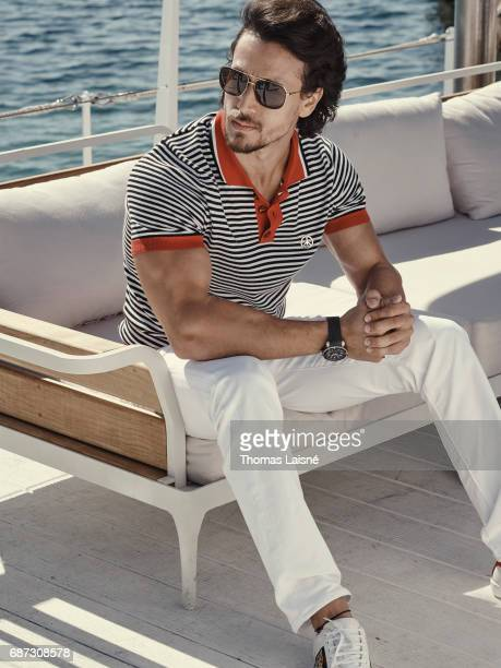 Actor Tiger Shroff is photographed on May 21 2017 in Cannes France